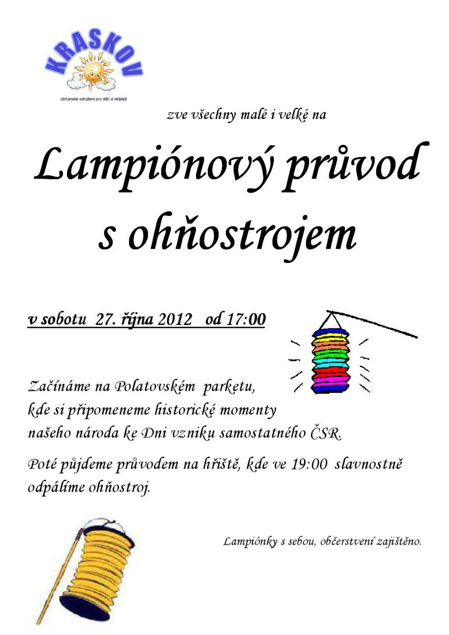 Lampionový průvod Kraskov
