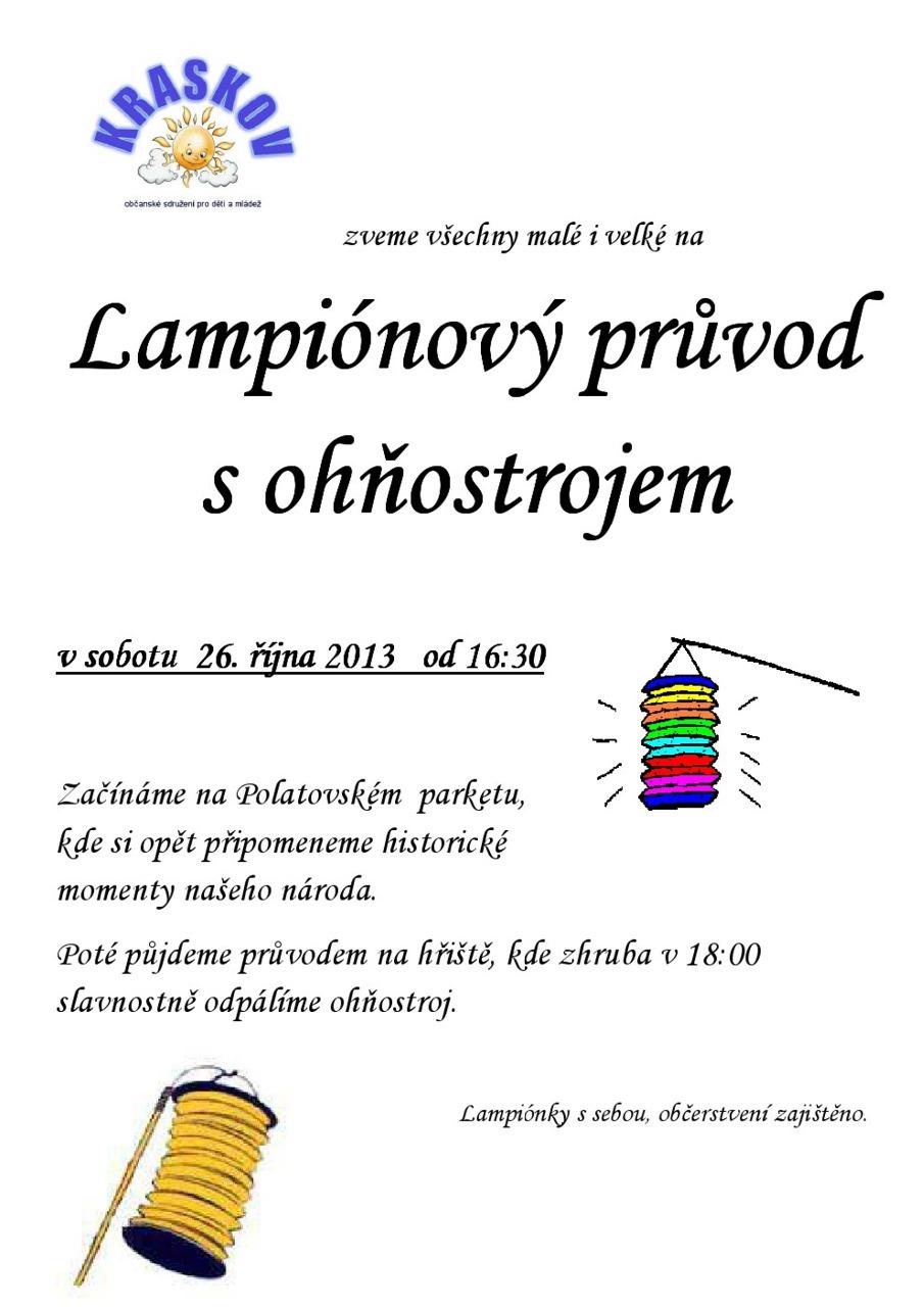 plakát lamp.průvod 2013